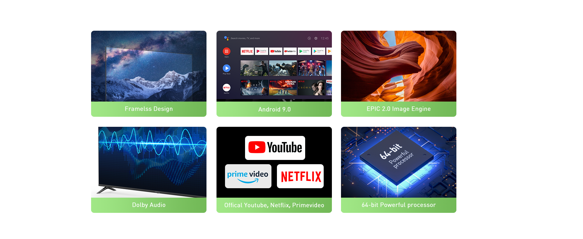 """Infinix X1 Android TV 43""""-wifi-support,In built chrome cast,frame-less design,screen mirroring 36"""